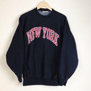New York Men's Spellout Crewneck Sweatshirf